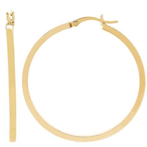 40MM Square Hoop Earrings in 14K Yellow Gold