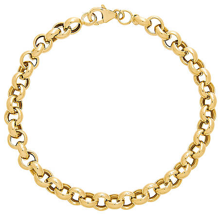 Rolo Link Bracelet in 14K Yellow Gold, 8""