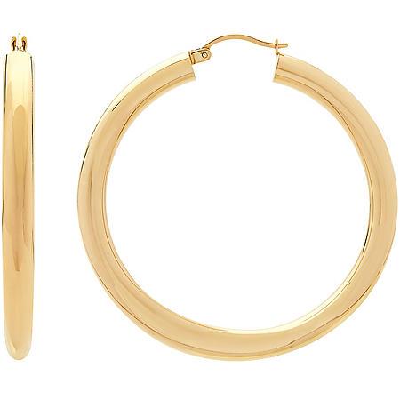 5x50mm Hollow Hoop Earrings in 14K Yellow Gold