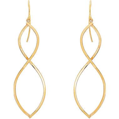 Infinity Drop Earrings In 14k Yellow Gold Sam S Club