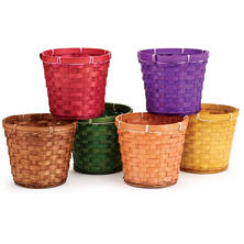 "Fall Basket Pot Cover 6"" (24 ct.)"