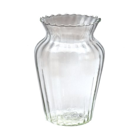 Clear Hand-Blown Glass Vases (16 count)