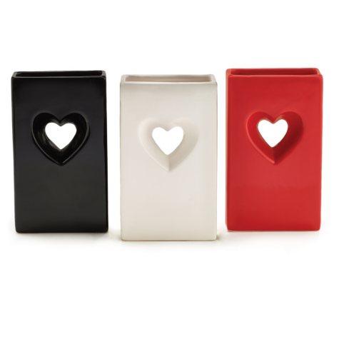 Open Heart Rectangler Vase (3 ct. )