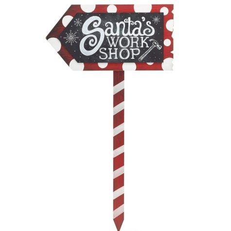 Santa's Workshop Yard Stake (2 pk.)
