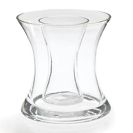 Double Glass Vase with Inner Cylinder (4 ct.)