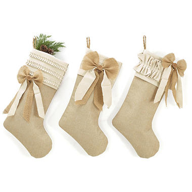 burlap christmas stockings - Burlap Christmas Stocking