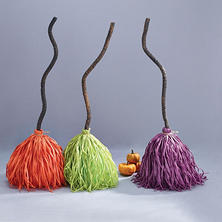 Dancing and Laughing Brooms, Set of 3 (Assorted Styles)