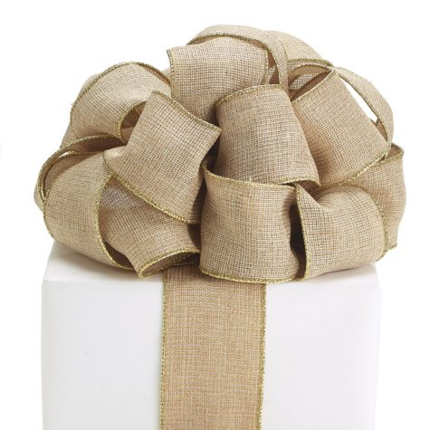 Wired Linen Ribbon, Gold And Khaki (3 pk., 20 yards ea.)
