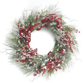"24"" Snowy Pine Wreath"