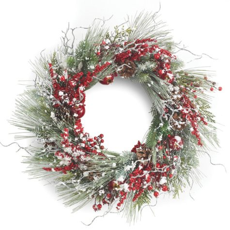 "24"" Snowy Pine Wreath"