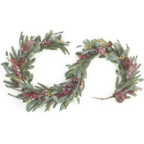 6' Frosty Pine Garland, Set of 2