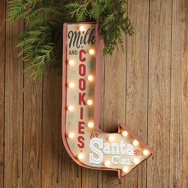 Milk and Cookies Marquee Wall Hanging, Set of 2