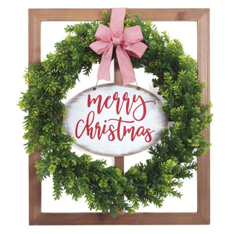 Merry Christmas Wall Hanging, Set of 2