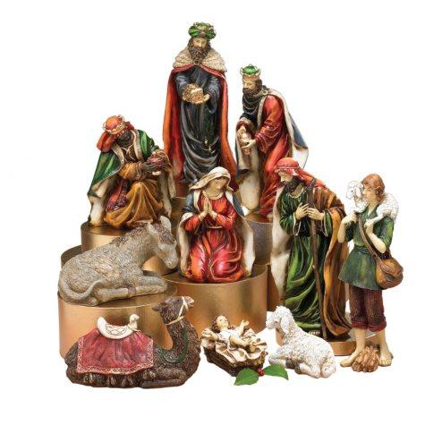 Jewel Tones Nativity Set