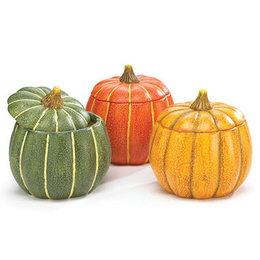 Pumpkin Planter with Lid (3 ct.)