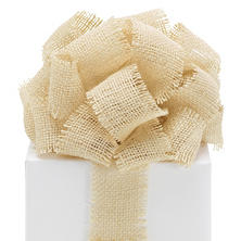 "2.5"" Burlap Ribbon – Cream -   3 Rolls(10 yrds ea.)"