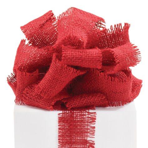 "2.5"" Burlap Ribbon - Red - 3 Rolls (10 yrds ea.)"
