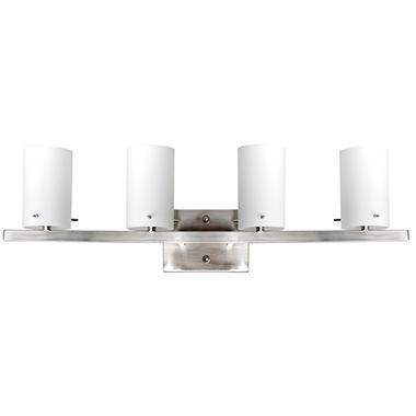 Luminance 4-Light Vanity, Bright Satin Nickel