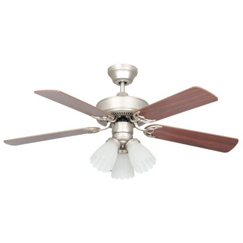 Concord by Luminance 42 in. Heritage Home Ceiling Fan (Satin Nickel)
