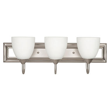 Luminance 3-Light Vanity, Satin Nickel