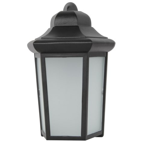 Luminance LED Exterior Fixture in Black Finish without Photocell