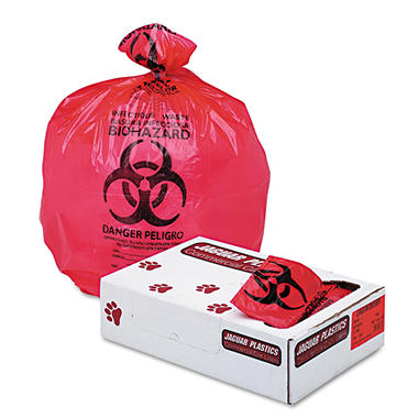 Jaguar Plastics 55 gal. Biohazard Health Care Trash Bags (100 ct.)