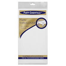 "Plastic Table Cover - 54"" x 108"" - 24 pk. - White"