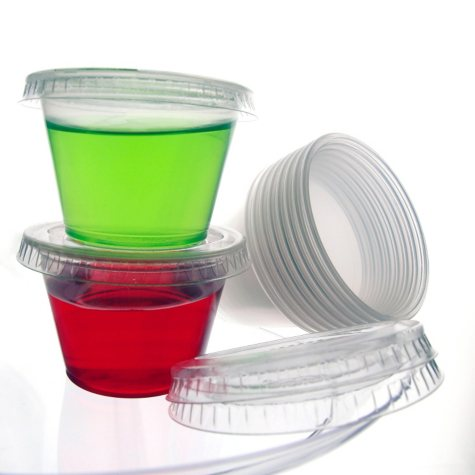 Party Essentials Plastic Shot Cups with Lids, 2.5 oz. (450 ct.)