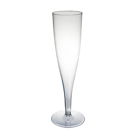 Party Essentials Plastic Champagne Flutes, 5 oz. (60 ct.)