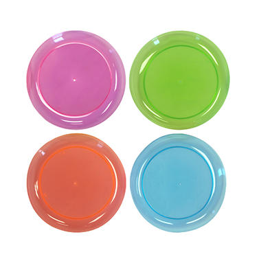 Party Essentials Brights Plastic Plates, 6