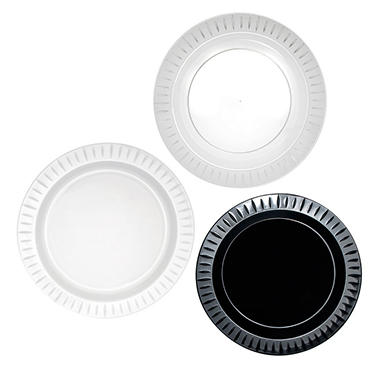 Party Essentials Elegance Plastic Plates, 7.5