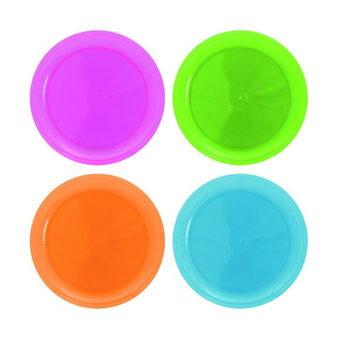 """Neon Assorted Party Plates - 7.5"""" - 480 ct."""