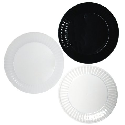 """Party Essentials Deluxe Plastic Plates, 9"""", Select Color (168 ct.)"""