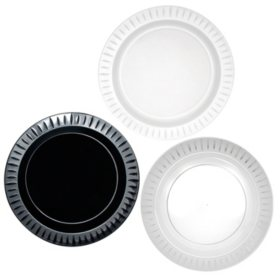 "Party Essentials Elegance Plastic Plates, 10.25"", Select Color (168 ct.)"