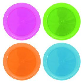 """Neon Assorted Party Plates - 10.25"""" - 240 ct."""
