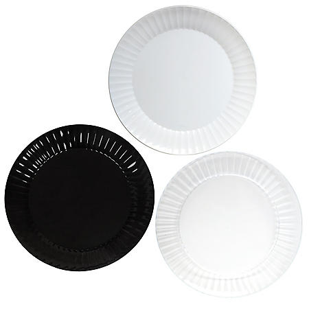 """Party Essentials Deluxe Plastic Plates, 10.25"""", Select Color (168 ct.)"""