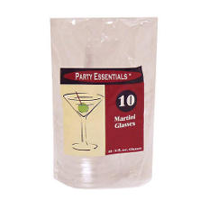 Party Essentials Plastic Martini Glasses, 8 oz. (120 ct.)