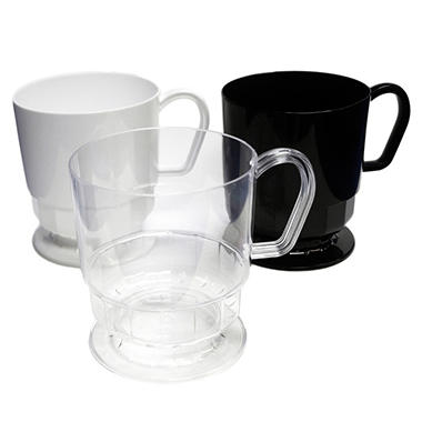 Party Essentials Plastic Coffee Cups 8 Oz Select Color 120 Ct