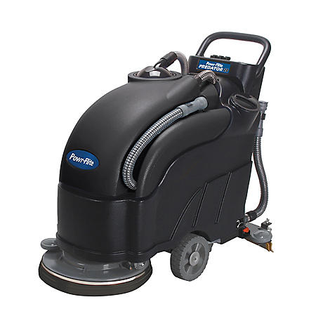 "Powr-Flite PAS20BA-BC Predator 20"" Battery Powered Floor Scrubber with Battery Charger"