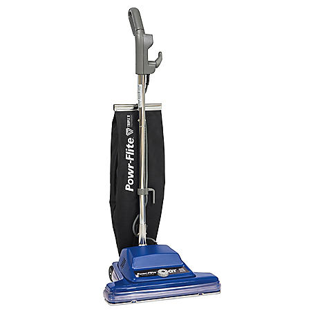 "Powr-Flite 16"" Commercial Shake-Out Bag Upright, Wide Track Vacuum"