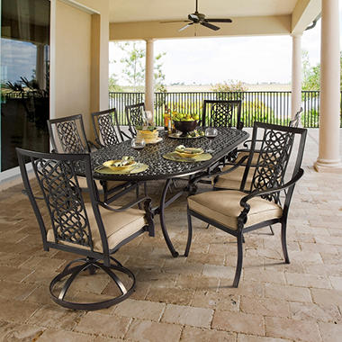 Ibiza Cushioned Oval Dining Set - 9 pc., Original Price $2399.00