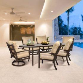 Neopolitan 7-Piece Cushioned Dining Set