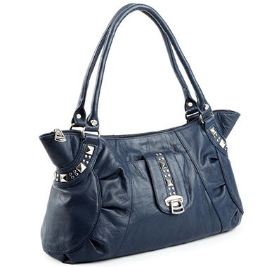 Allison Scott Leather Rosalia Tote - Blue