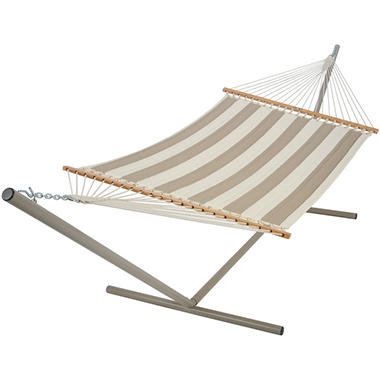 Regency Sand Large Quilted Fabric Hammock