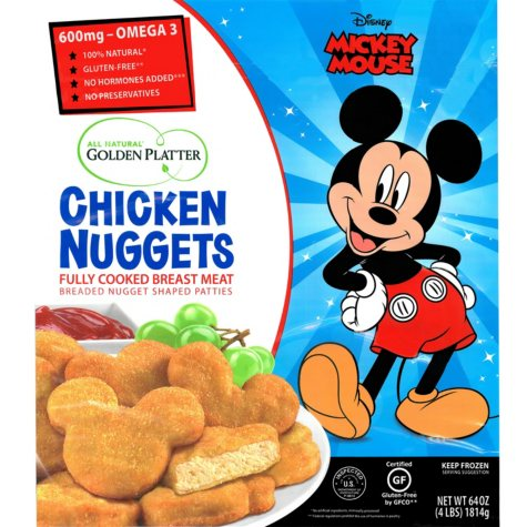 Golden Platter Mickey Mouse Chicken Nuggets (4 lbs.)