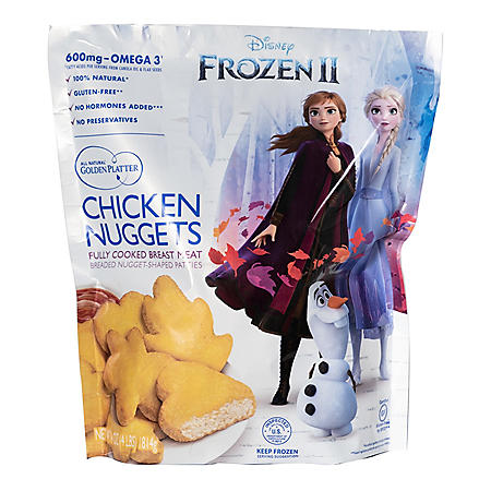 Golden Platter Disney's Frozen 2 Chicken Nuggets, Fully Cooked (4 lb.)