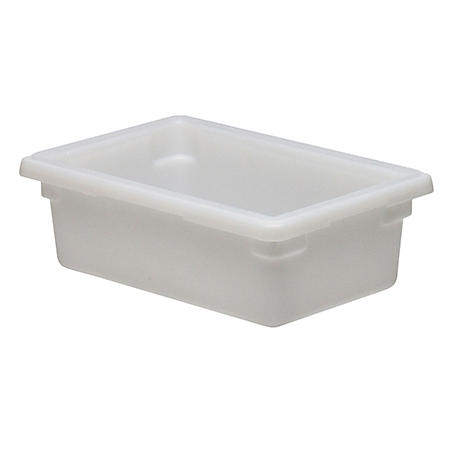 Cambro Poly Food Box, White, 18 x 12 x 6, White (3.5 gal., 1 pk. with lid)