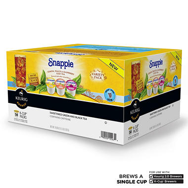 Snapple Iced Tea Variety Pack (54 K-Cups)