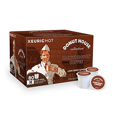 Donut House Light Roast Coffee (80 K-Cups)