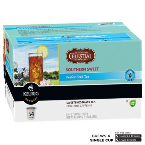 Celestial Seasonings Southern Sweet Perfect Iced Tea K-Cup Packs (54 ct.)